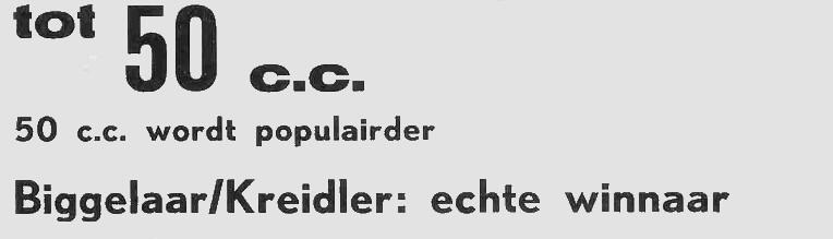 Den Biggelaar Kreidler: echte winnaar.