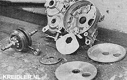 De onderdelen voor een roterende inlaat