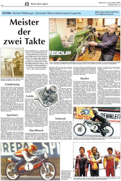 Herbert Rittberger - Meister der Zweitakte - Dit artikel lezen en printen als pdf document (443 kB)