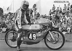 Eigenbouw Yamaha: Naast de 50 cc kwam Herbert Rittberger in 1973 ook uit in de 125 cc.