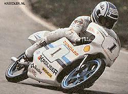 Dörflinger: 50 cc wereldkampioen in 1983 op Kreidler, in 1984 op Zündapp en in 1985 op Krauser.