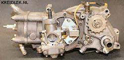 De kampioenen maker: Met de 50 cc RIMOTU-Kreidler lukte het tweemaal wereldkampioen te worden en wel in 1982 en 1983..