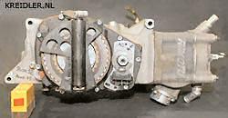 Lang gestrekt zoals de 50 cc motor werd ook de 80 cc geconstrueerd. Alleen de 125 bezat een cilinder die iets naar boven was gericht.