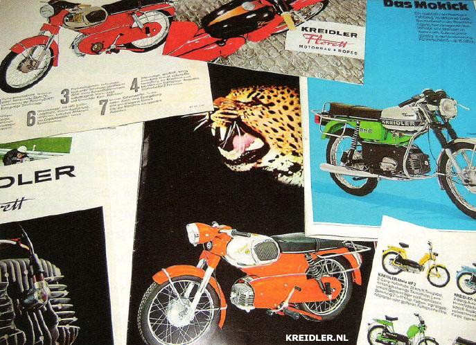 Folders zijn een handel opzich en ook die van de Kreidler zijn enorm populair, zeldzaam en kosten daarom ook vaak veel geld.