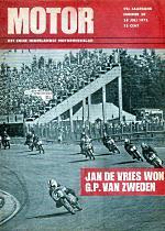 Jan de Vries na winst GP van Zweden weer aan de leiding, 1972