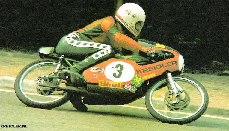 Henk van Kessel gebruikte een Kreidler om in 1974 50 cc wereldkampioen te worden.