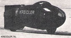 Rudolf Kunz's Kreidler record machine in Utah in 1965.
