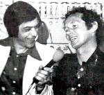 Dealer diskoshow bij Kreidler Juffermans te Purmerend met DJ Anthony Parker, 1976