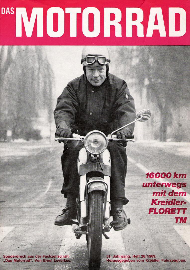 16000 km onderweg met een Kreidler Florett TM.