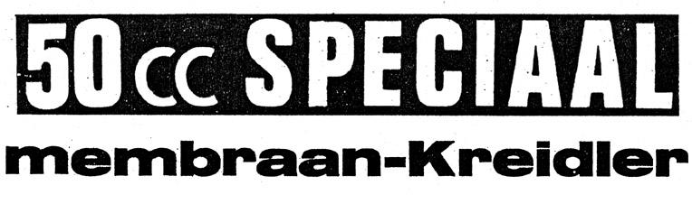 50cc speciaal - membraan Kreidler