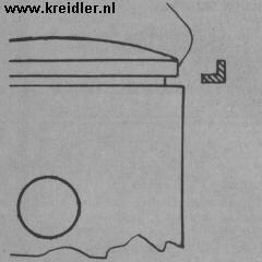 Het afnemen van een veer moet voorzichtig gebeuren. Bij voorkeur niet buigen, maar op de rand (waar het pijltje staat) een stripje kunststof ertussen schuiven. <br />