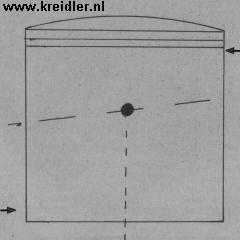 Door een kromme drijfstang of scheef pistonpengat kunnen kantelneigingen optreden 'rond het getekende punt'. Te herkennen aan glimplekken.