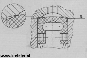 Afb. 5. De radius van de zuigerkop en de squishband moet zo zijn dat de spleet even dik is. Sluit je wat mengsel op, dan ben je in de problemen.