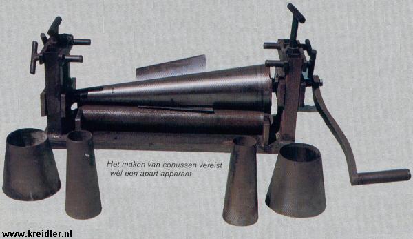 Het maken van conussen vereist wèl een apart apparaat.