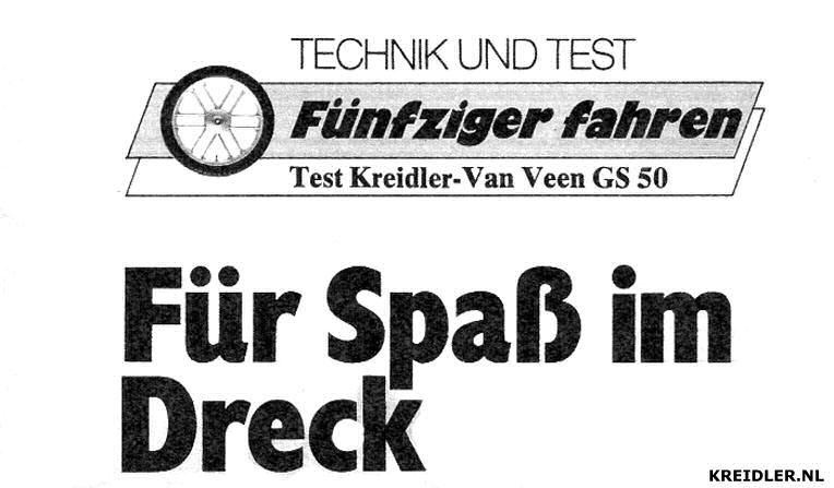 TECHNIK UND TEST - Fünfziger fahren - Test Kreidler Van Veen GS 50 - Für Spaß im Dreck (Voor de lol in de modder)