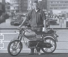 Jan de Roode bij de RMC-S.