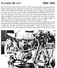 Kreidler Wegrace 1958 tm 1978