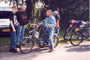 Aalt Toersen op de Kreidler Fun-Chopper