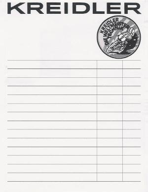 New Kreidler paper notebooks available