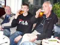 Biertje op de nozemavond met Marcel en Kees J.