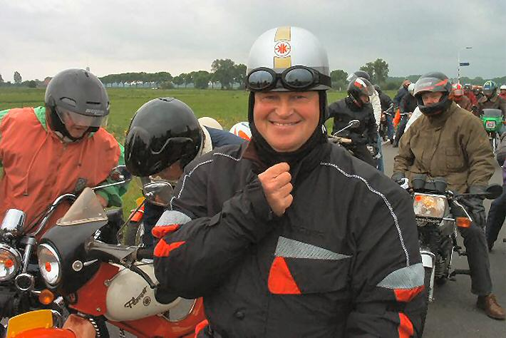 Eddy bij de tourrit in Wijchen in 2003