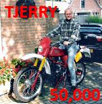 Tjerry 50000 berichten op het Kreidler forum