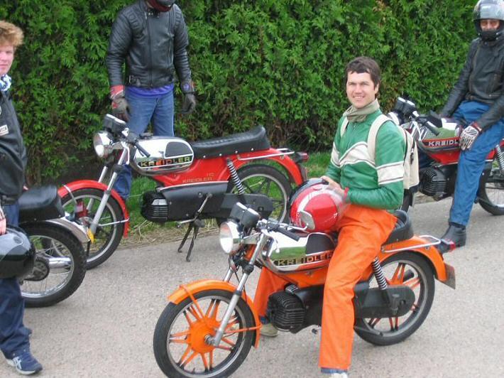 Huib - Kreidlerclublid mei 2009 - Snelle rit Delft 04-07-2004