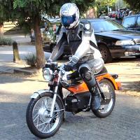 Melvin - Kreidlerclublid oktober 2008 - Op zijn Kreidler RS van 1975.