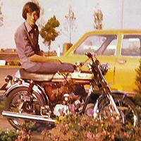 Nico Ha - Kreidlerclublid november 2009 - Op de Yamaha FS1 in 1977