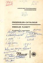 Kreidler Onderdeelboek 1962 Nederlands